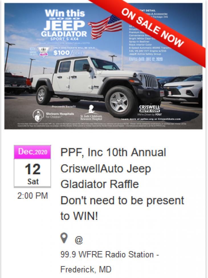 10th Annual Car Raffle by PPF, Inc