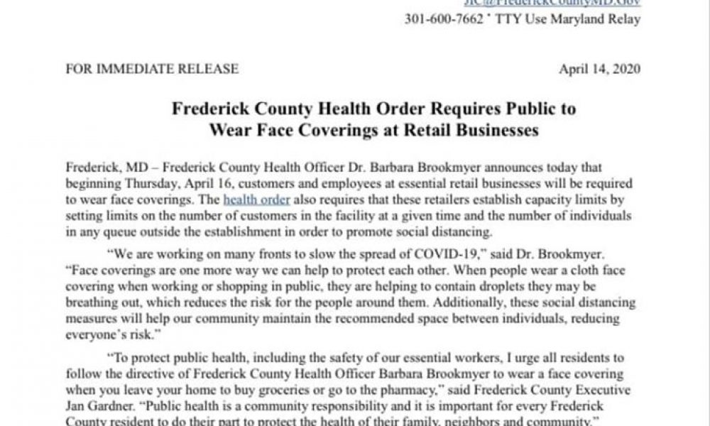 Frederick County Press Release